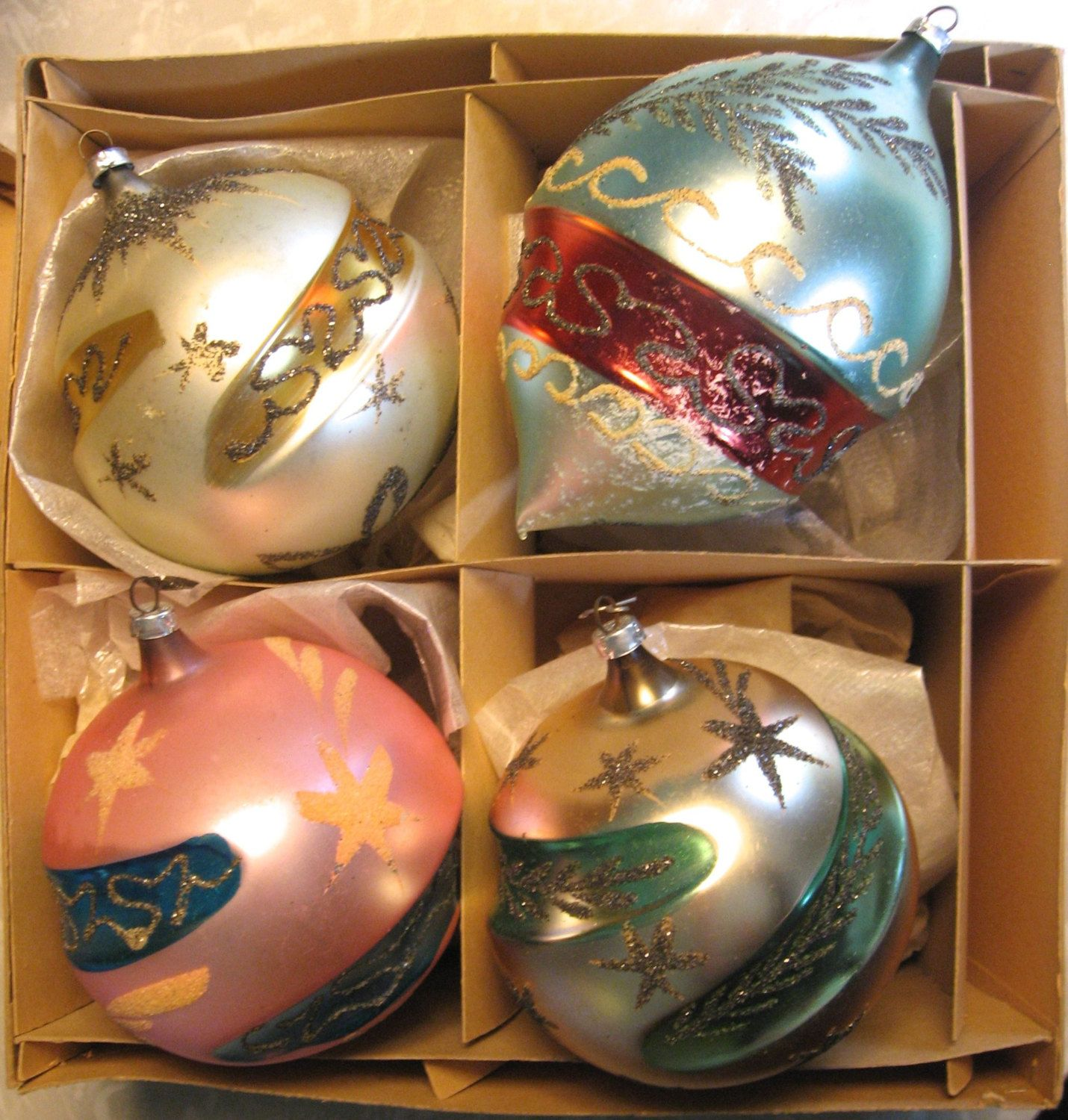 vintage glass christmas ornaments large max eckardt sons west german glass glitter your