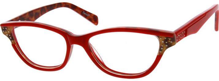 69d12584b29 Red Acetate Full-Rim Frame with Spring Hinges  629618