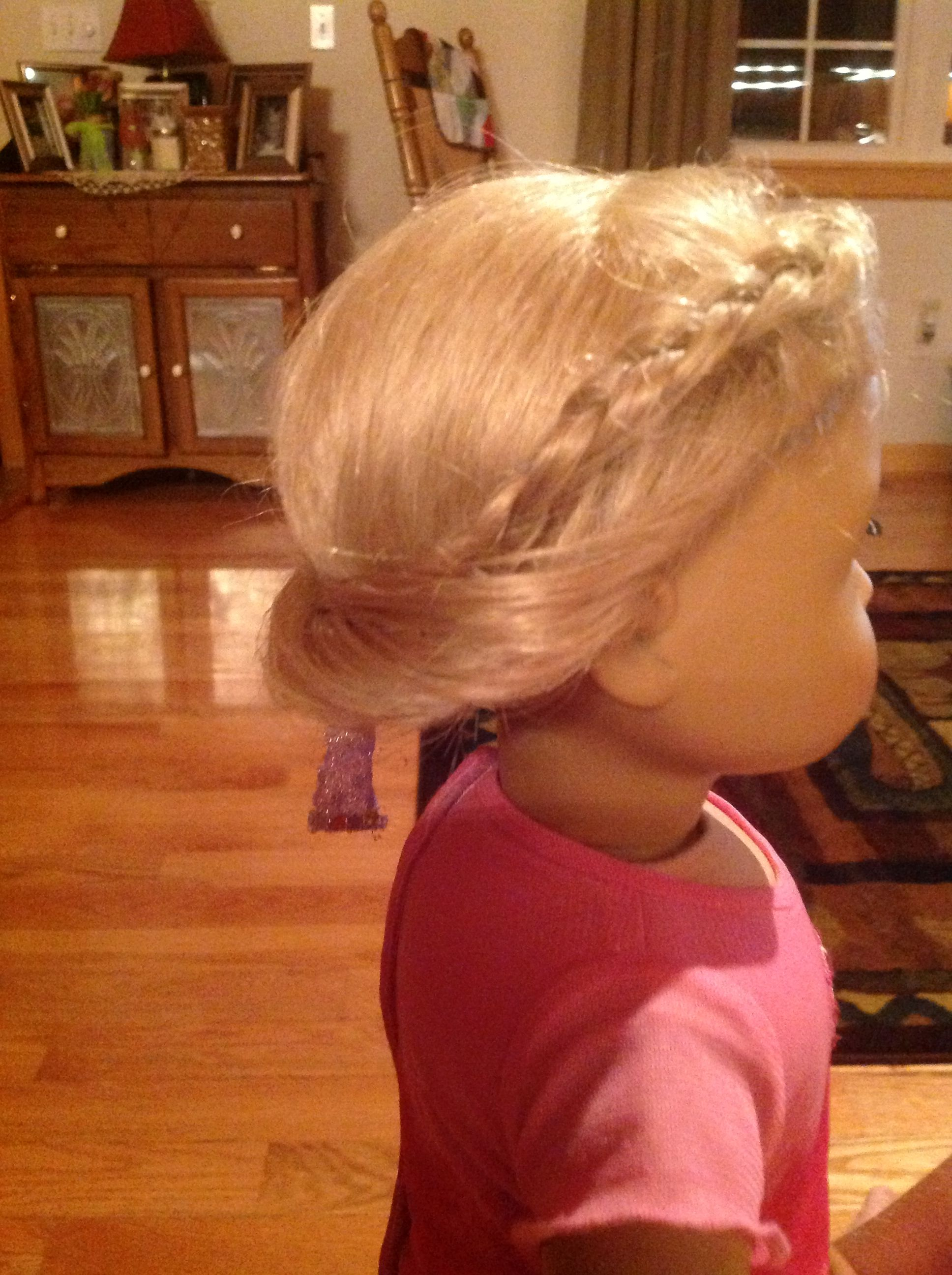 American girl doll hair style by year old erin pinterest