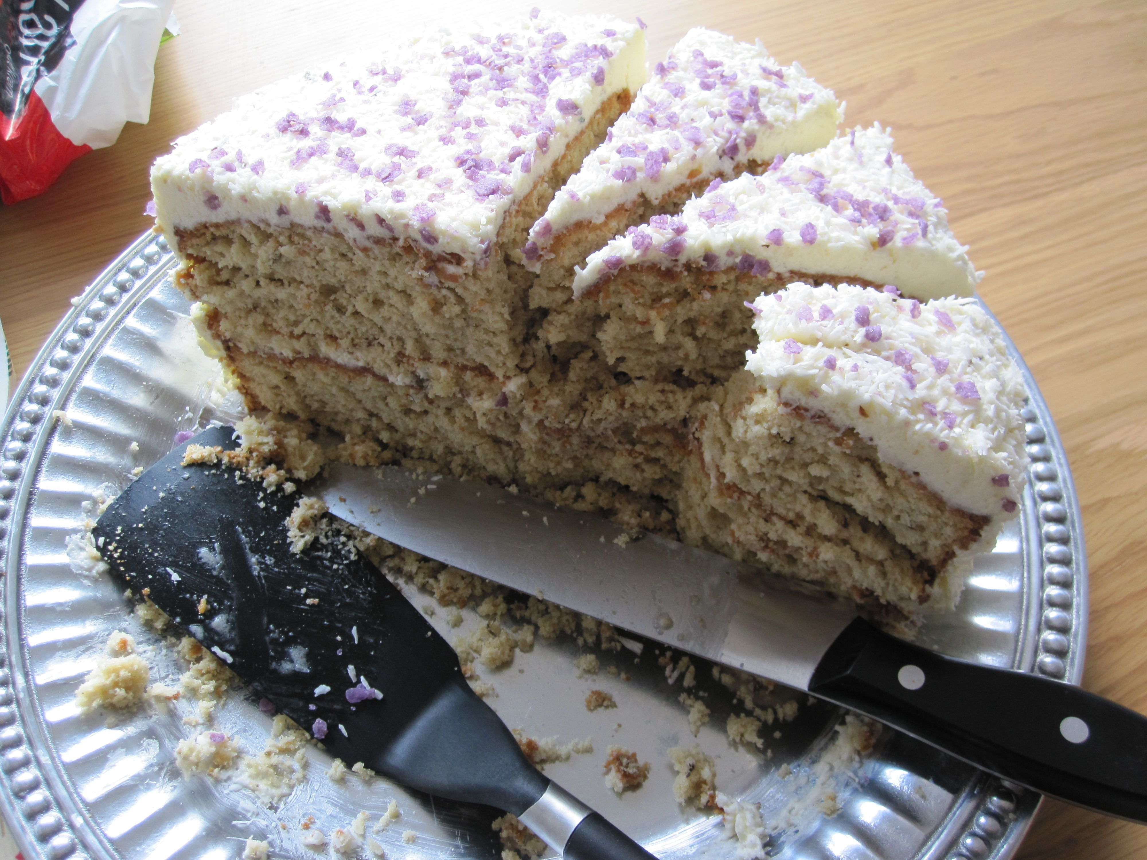 Lavender And Coconut Layer Cake With Lavender Italian Meringue