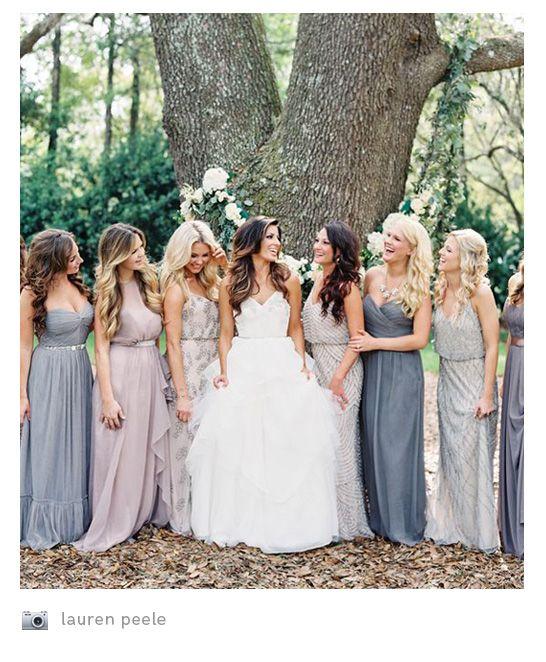 3purple Lilac Blue Ombre Bridesmaids Mismatched Bridesmaid Dresseswedding