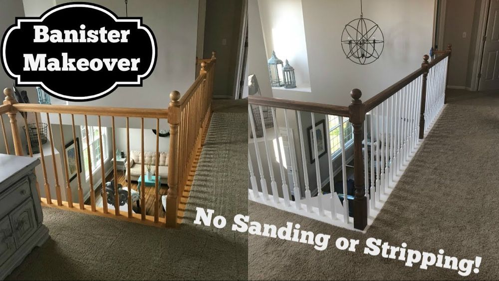 Best Oak Banister Makeover Gel Stain With No Stripping 400 x 300