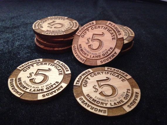 Promotional Wood Poker Chips Custom Designed And Laser
