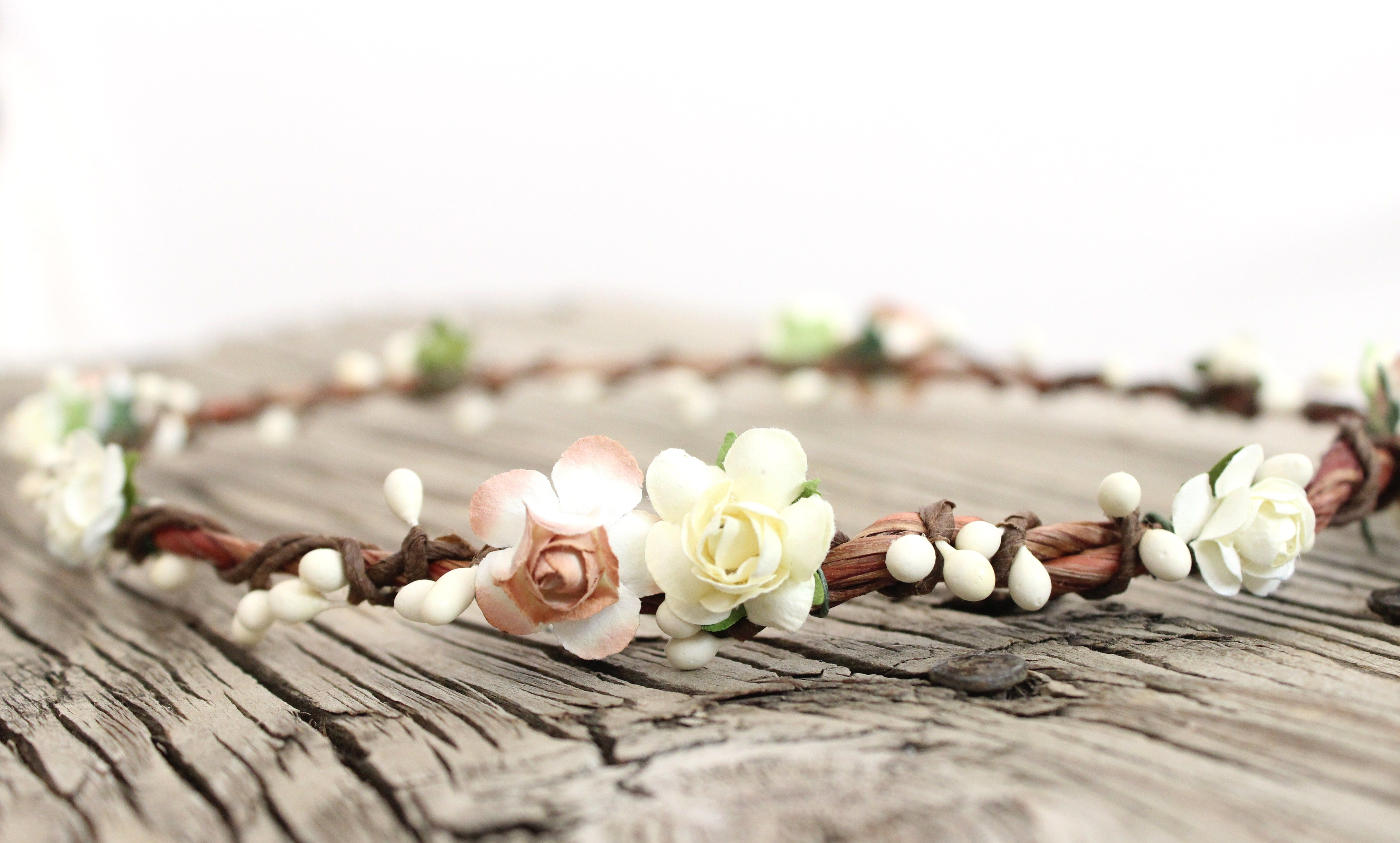 Simply Beautiful Rustic Ivory Flower Crown This Head Piece Would