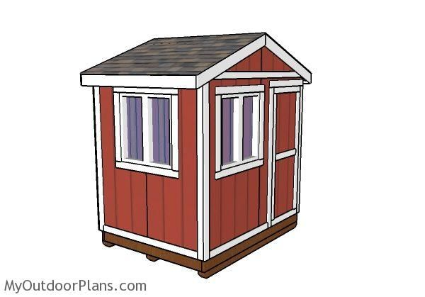 6x8 Ice Fishing House Plans MyOutdoorPlans