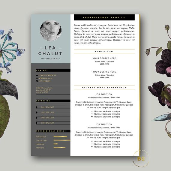 Creative Resume Template Modern CV Template with free Cover - iwork pages resume templates