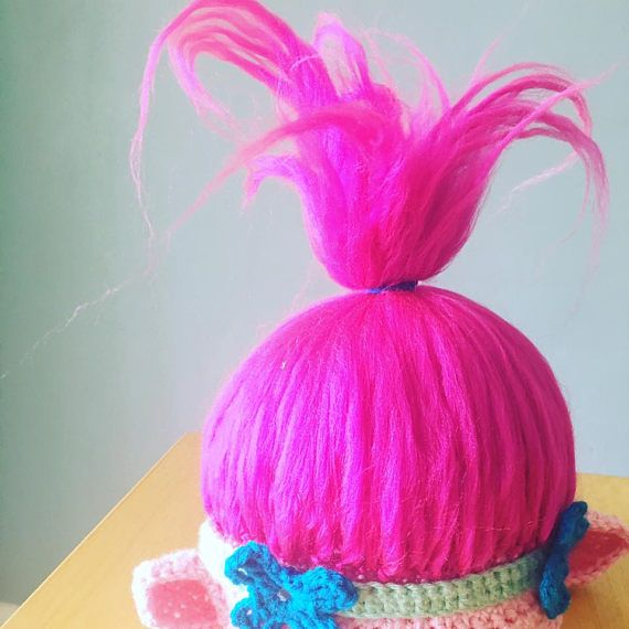 Poppy Troll Hat, PDF Pattern, Poppy, Troll, Troll Hat, Poppy Hat ...