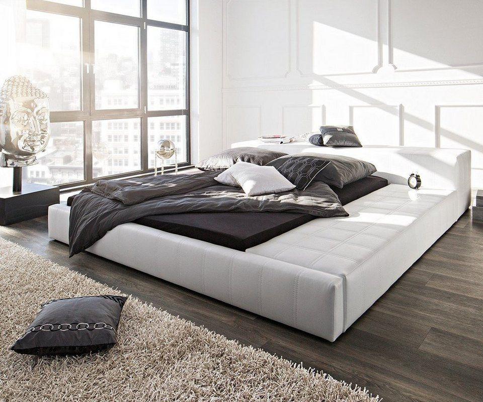 Delife Doppelbett Edina Weiss 180x200 Gepolstert Bett Ideen