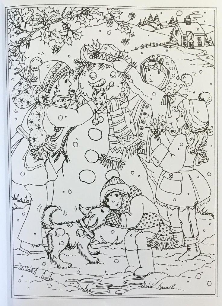 Amazon.com: Creative Haven Winter Wonderland Coloring Book (Adult ...