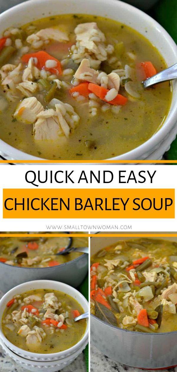 Chicken Barley Soup #easycomfortfood