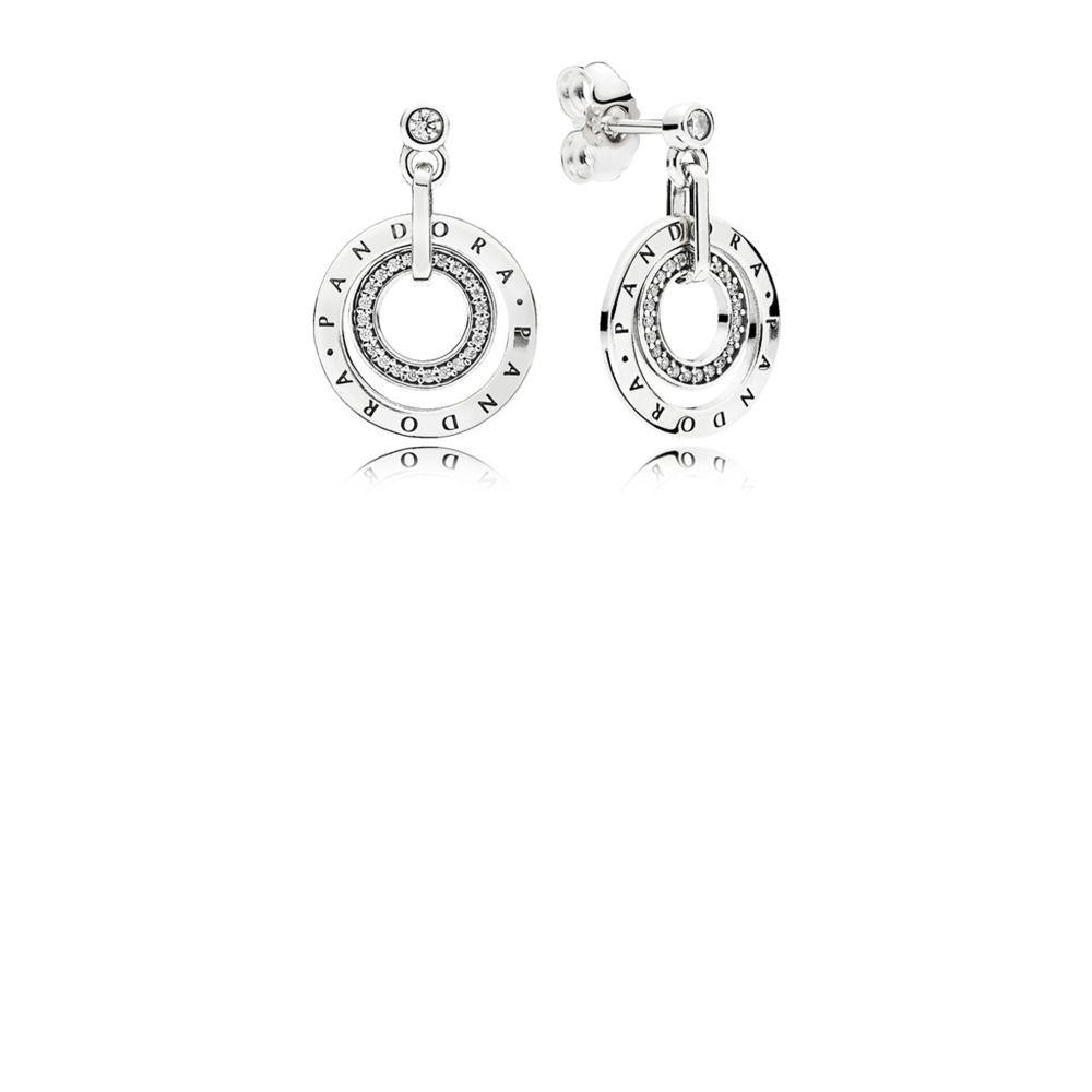 3a6d2e5b1 PANDORA Circles Drop Earrings, Clear CZ | PANDORA | Sterling silver ...