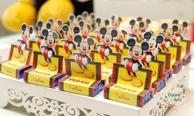 Porta Bis Duplo No Tema Mickey Mouse Para Festa De 1 Ano Porta Bis