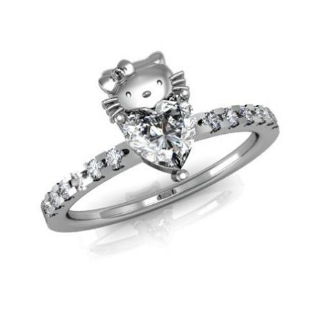 if you are looking for a best unique and cute hello kitty wedding ring for your lover then take a lo - Hello Kitty Wedding Ring