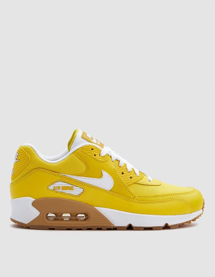 on sale fe433 c1e87 Nike / W Nike Air Max 90 Premium Shoe in Tour Yellow/White ...
