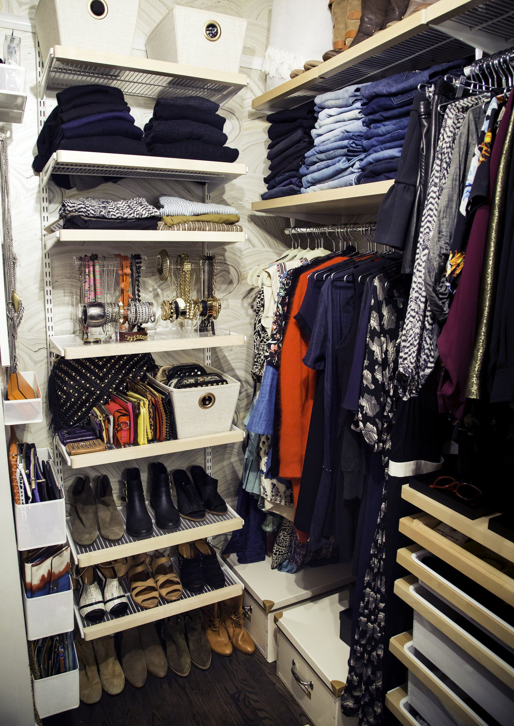 Keep Everything You Want To Wear Visible Wardrobe Organisation