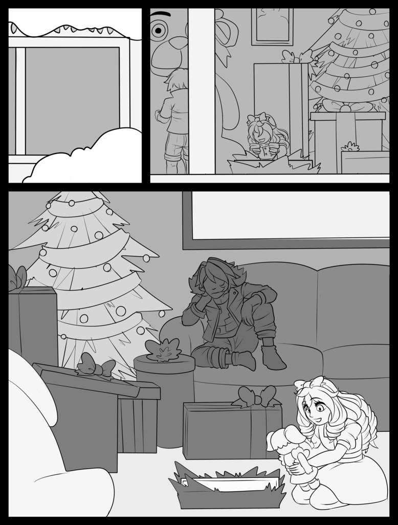 Afton Christmas Page 2 By Wolf Con F Afton Fnaf Art Fnaf