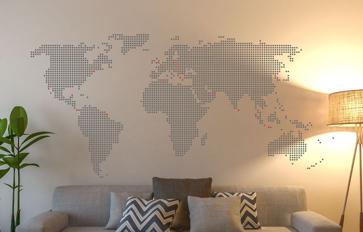 World map of dots will create a beautiful wall decoration suitable world map of dots will create a beautiful wall decoration suitable to the living room or gumiabroncs Image collections