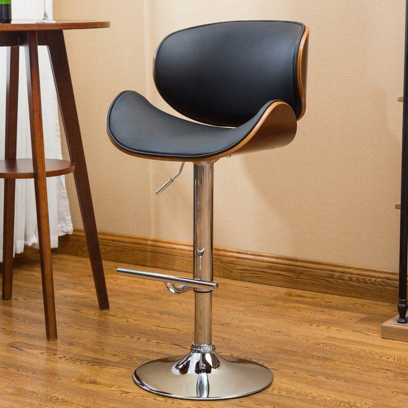 Bissett Adjustable Height Swivel Bar Stool Reviews Allmodern Bar Stools Adjustable Bar Stools Bar Furniture