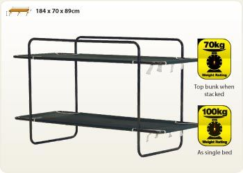 double bunk bed - oztrail camping | camping gear, camping