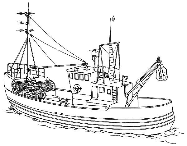 Fishing Boat Sea Fishing Boat Coloring Pages Coloring Pages Boat Fishing Boats