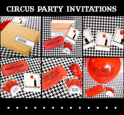 :: armelle blog ::: circus party invitations...