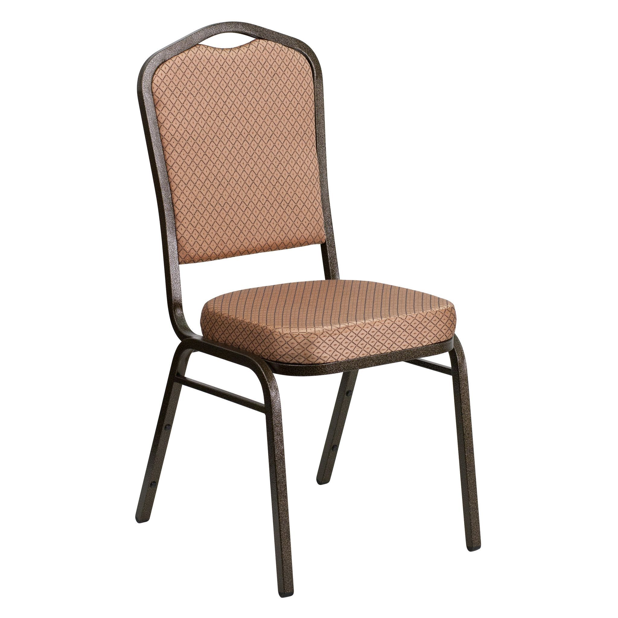 High Quality HERCULES Series Crown Back Stacking Banquet Chair With Patterned Fabric