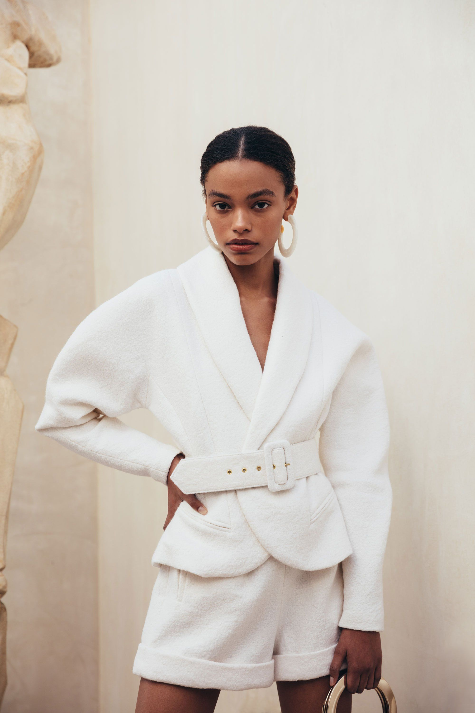 Vida jacket off white fashion editorials pinterest off