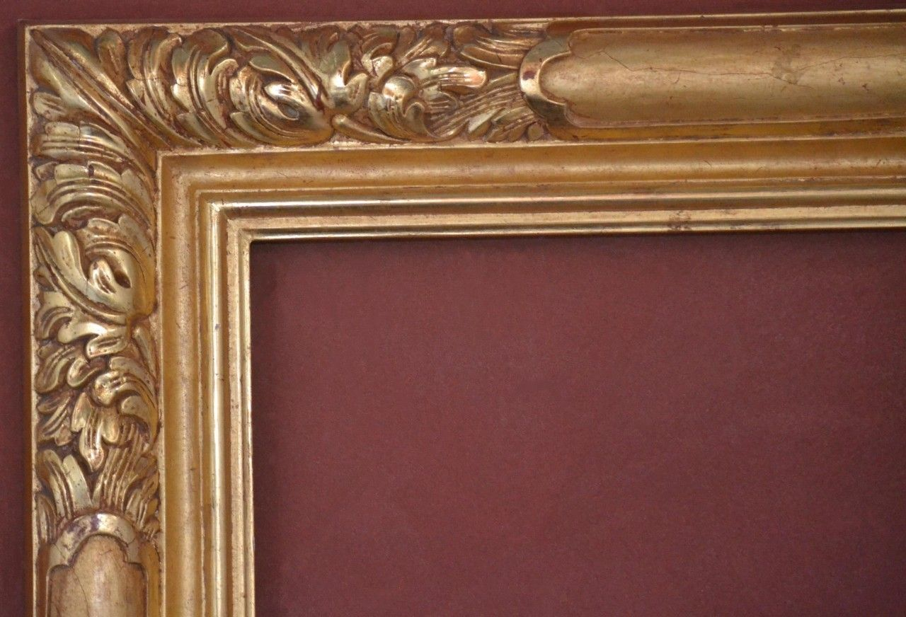 C 9258 Custom Hand Carved Picture Frame, Plein Air