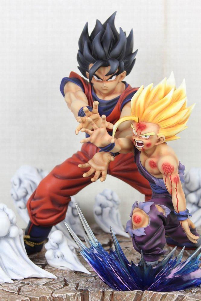 Dragonball Father Son Goku Gohan Kamehameha Resin Statue Diorama Manga Ver 2 0 Dragon Ball Anime Figures Dragon Ball Gt
