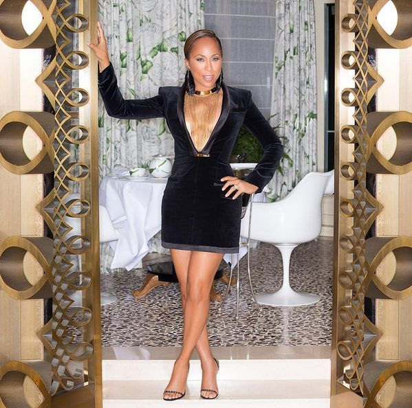 The post Splurge  Marjorie Harvey s Elle Magazine Anniversary Celebration  Balmain Black Velvet V-Neck Dress appeared first on The Fashion Bomb Blog  ... 0fc174615