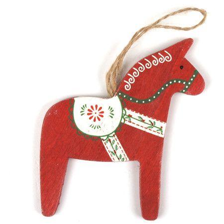 Red Dala Horse Decoration