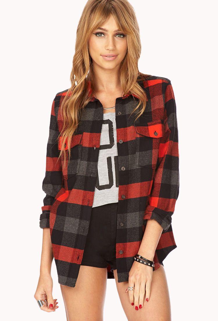 Flannel cardigan womens  Americana Plaid Flannel  FOREVER American girl Flannel Plaid