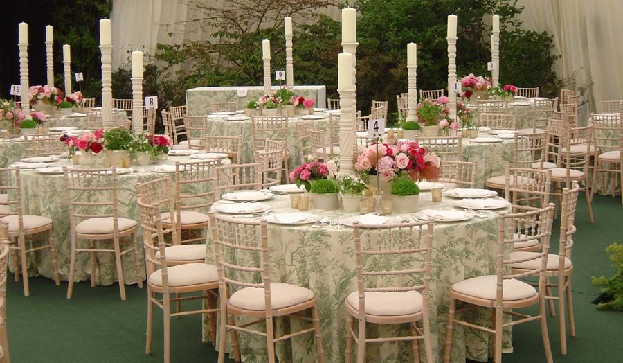 Blue And White African Wedding Decor