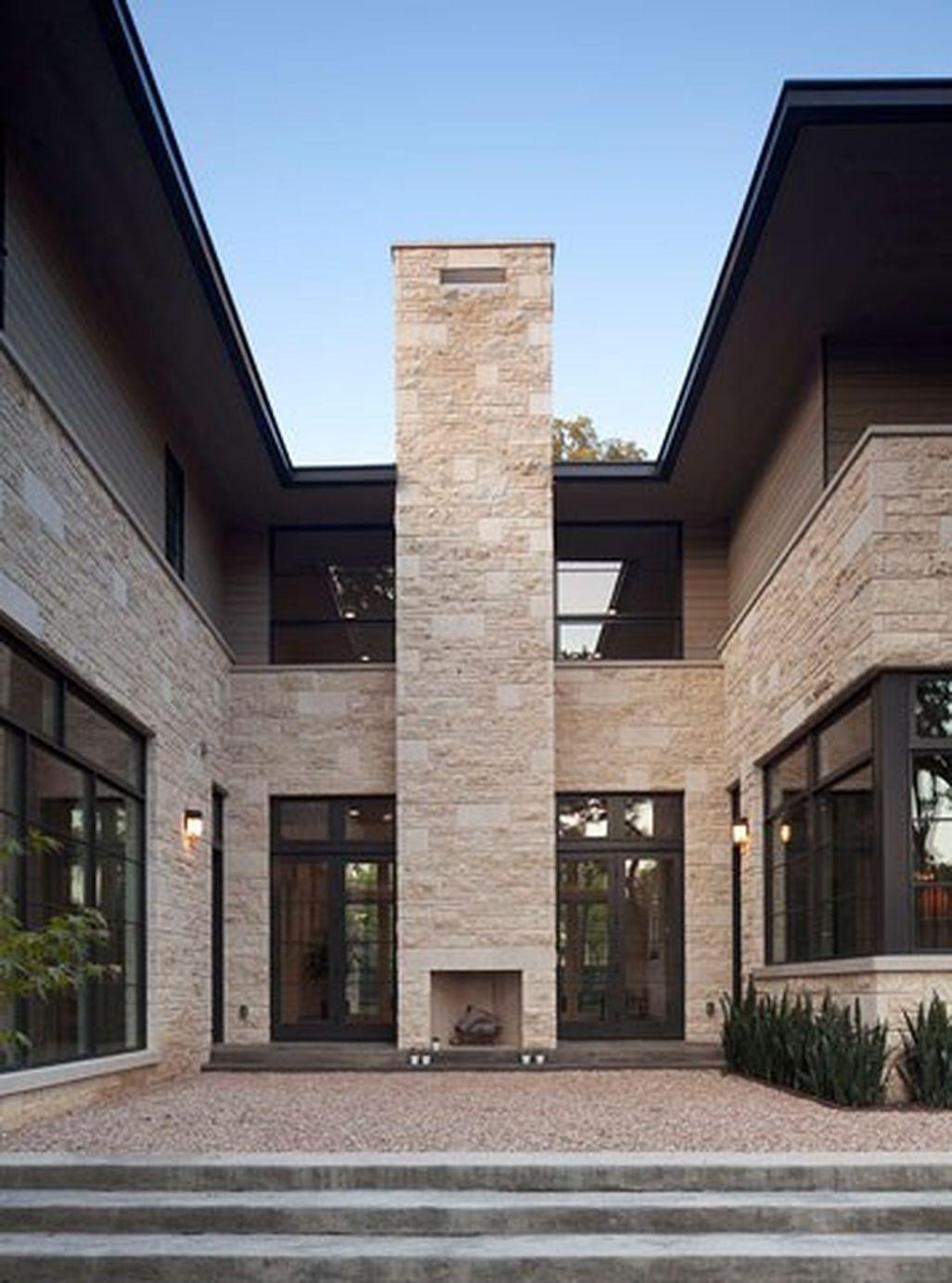 40 Elegant Modern Chimney Ideas | Outdoor fireplace ...
