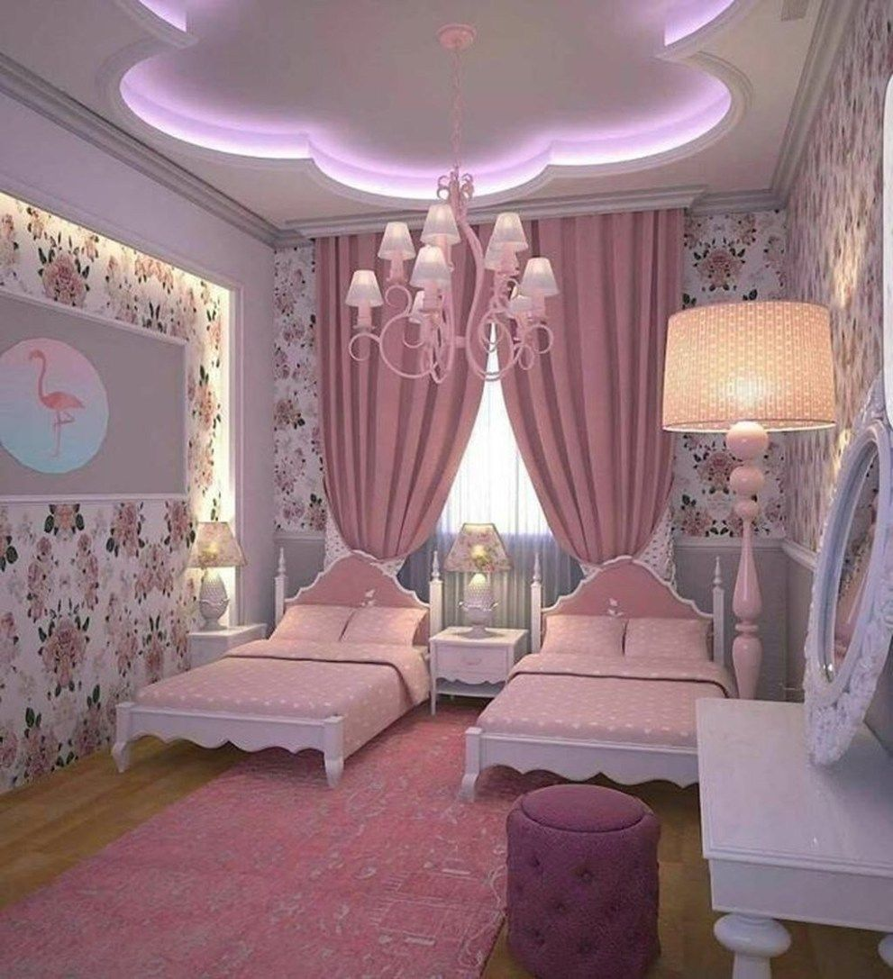 30 Pretty Princess Bedroom Design And Decor Ideas For Your Lovely Girl Trendedecor In 2020 Girl Bedroom Designs Girl Room Girls Bedroom