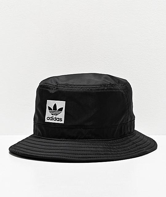 Adidas Originals Night Black Bucket Hat Zumiez In 2020 Black Bucket Hat Black Bucket Adidas Fashion