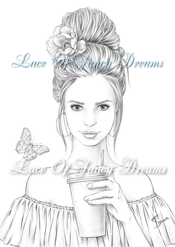 Coloring Page For Adult Beautiful Woman Coloring Sheet To Print