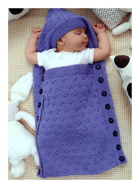 BABY KNITTING PATTERN Sleep Sack Knitting Pattern Cocoon   Baby- und ...