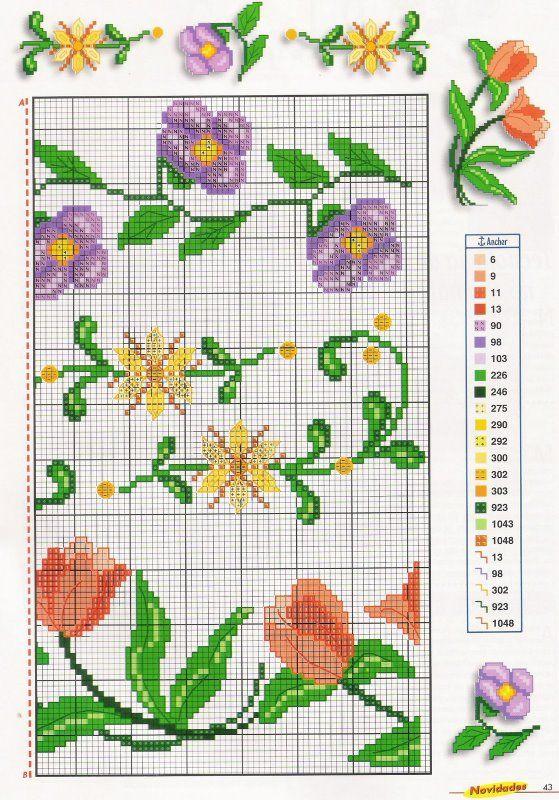 Barras+de+Flores+-+Ponto+Cruz+&+Novidades+2.jpg 559×800 piksel