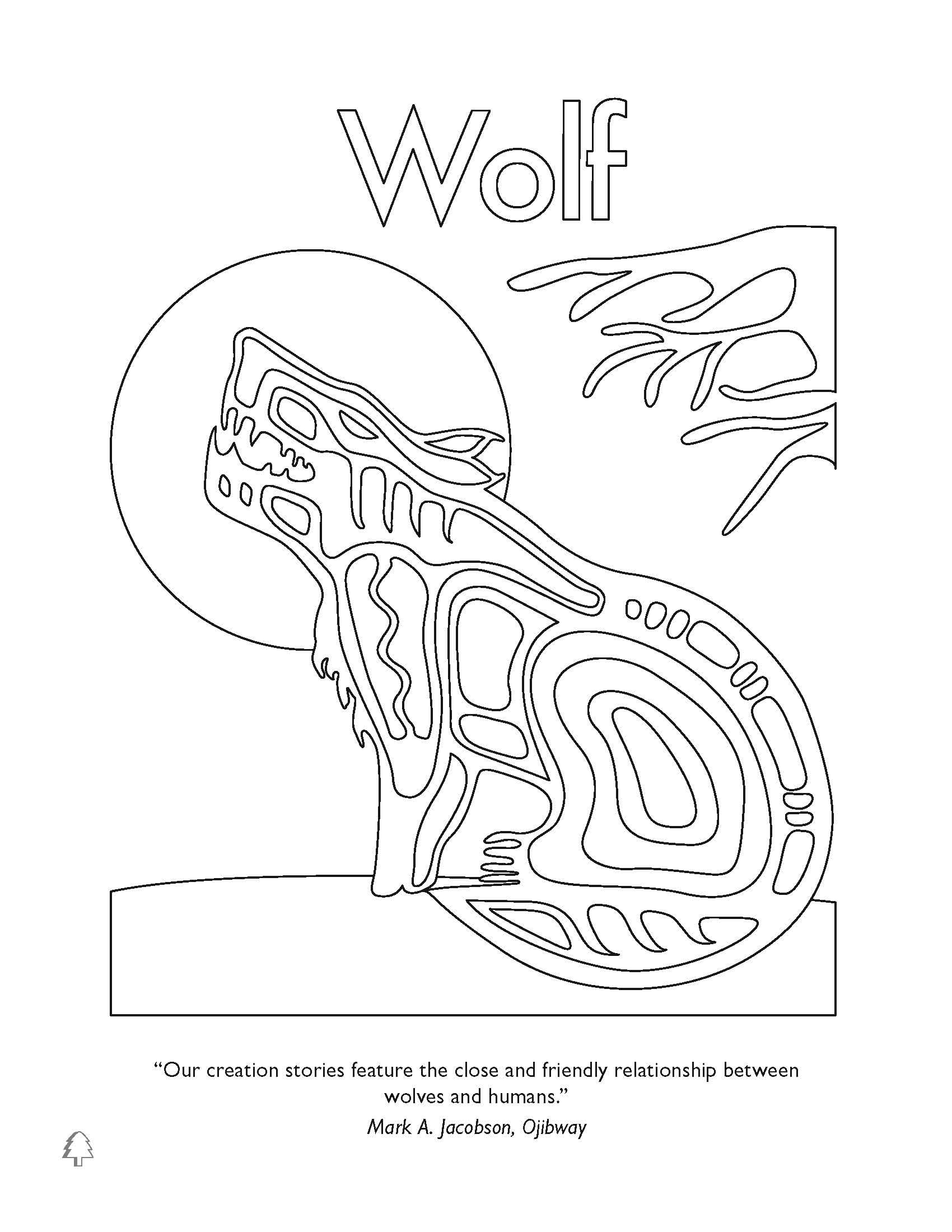 First Nations Animal Coloring Pages