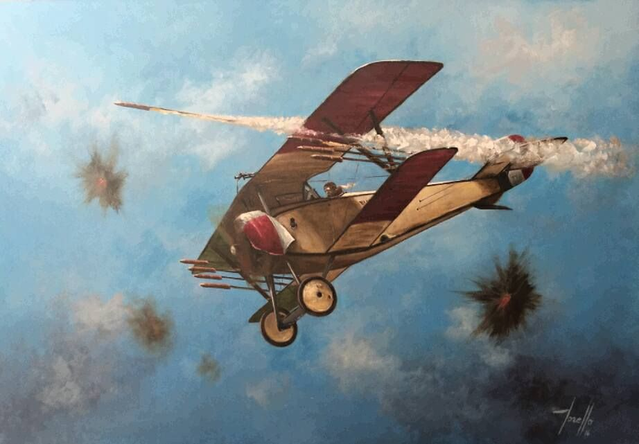 The Le Prieur incendiary rocket was a noble attempt to contest opposing balloons . . .