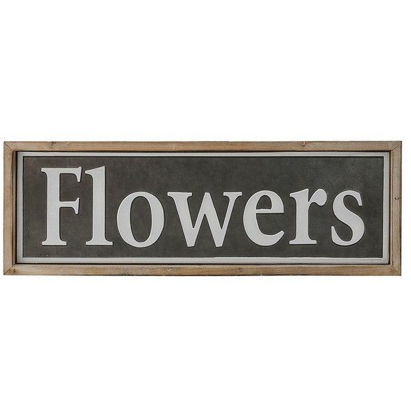 Word Signs Wall Decor Endearing Flowers Wood And Metal Sign Plaque 92 Pln ❤ Liked On Polyvore Inspiration Design