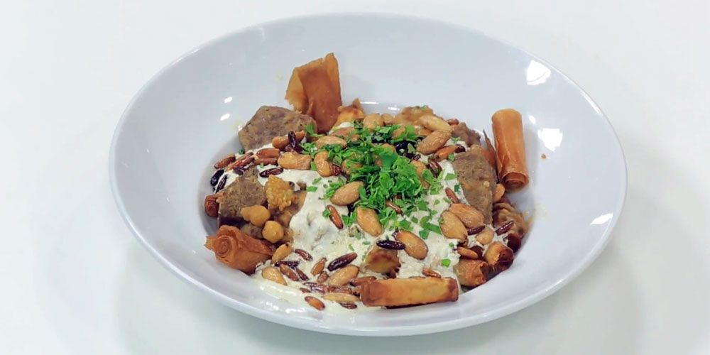 فتة الباذنجان و الحمص و اللحمه Cooking Recipes Recipes Food