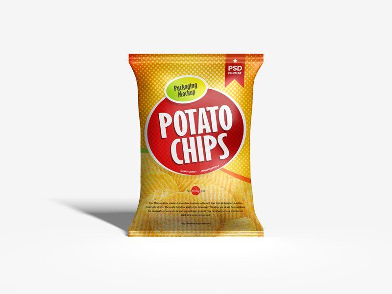 Download Free Chips Bag Packaging Psd Mockup Bag Mockup Packaging Mockup Mockup Free Psd