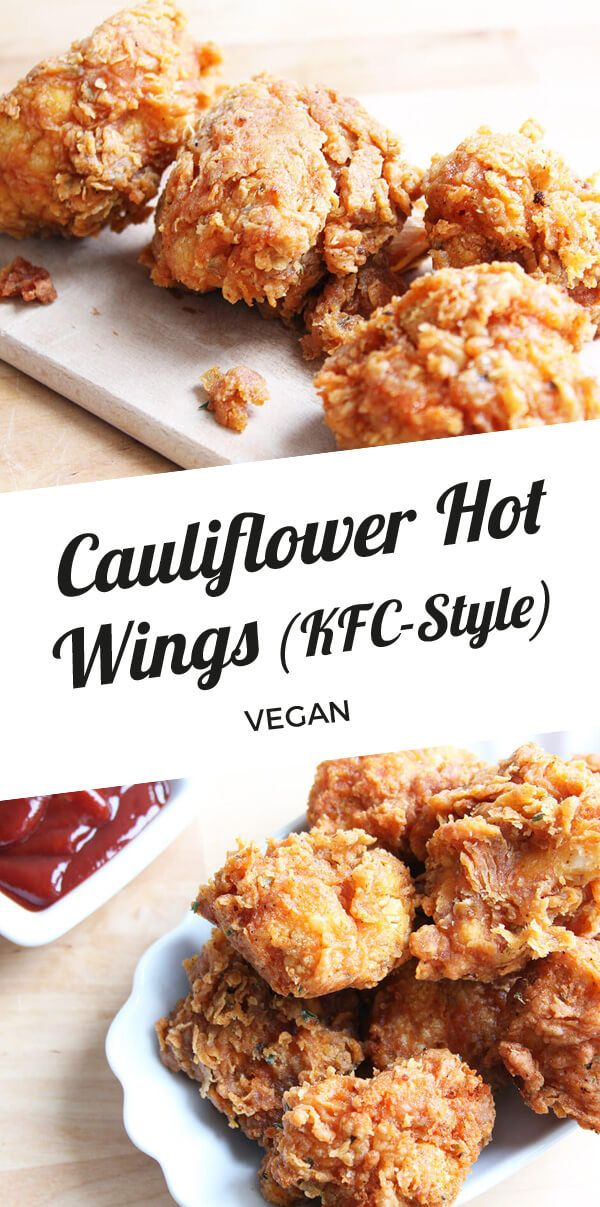 Vegan Cauliflower Hot Wings (KFC Style) images