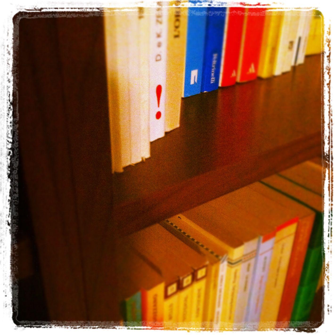 Grazie alla nostra amica/lettrice/aspirante scrittrice Silvia per averci inviato questo scatto della sua libreria! :)