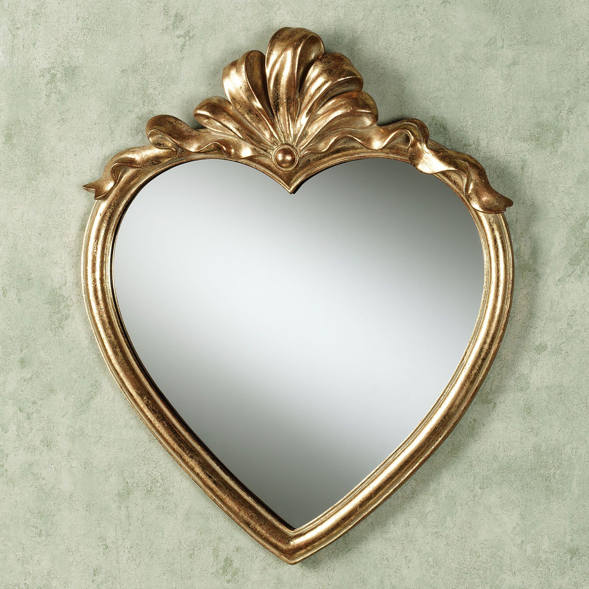 gold+framed+mirrors+wall+grouping | Karessa Heart Wall ...