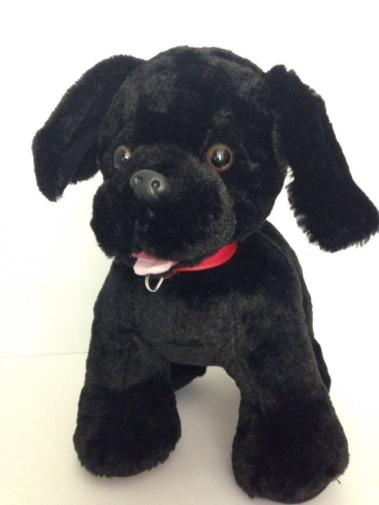 2a917642f30 Build a Bear Black Lab Labrador Stuffed Plush Puppy Dog Collar 15
