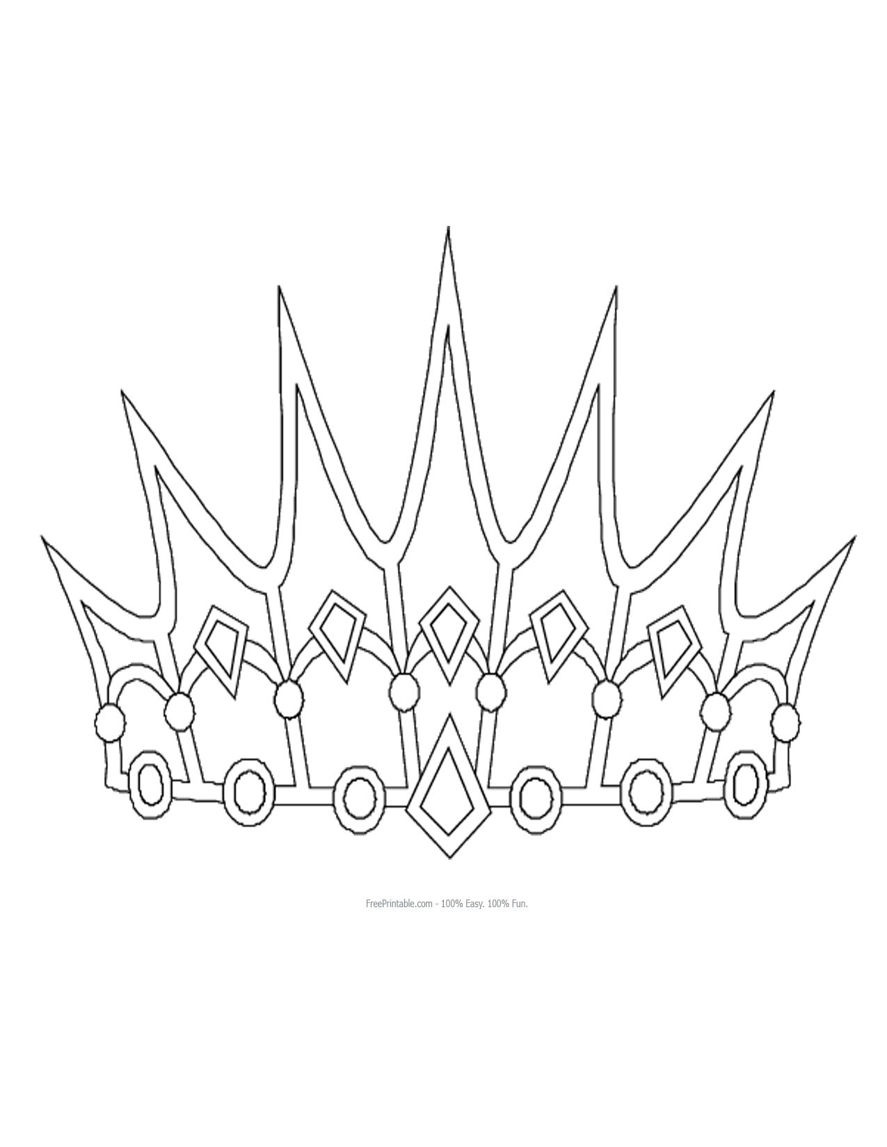 free printable princess crown shapes print princess crown