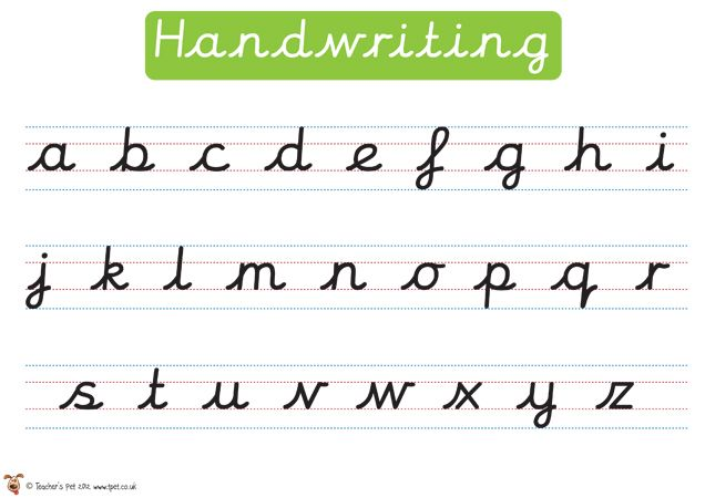 cursive alphabet line for classroom